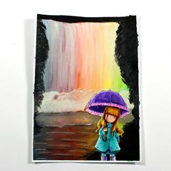 Malen Zeichnen Kunstwerke Auf Leinwand Und Anderen Materialien