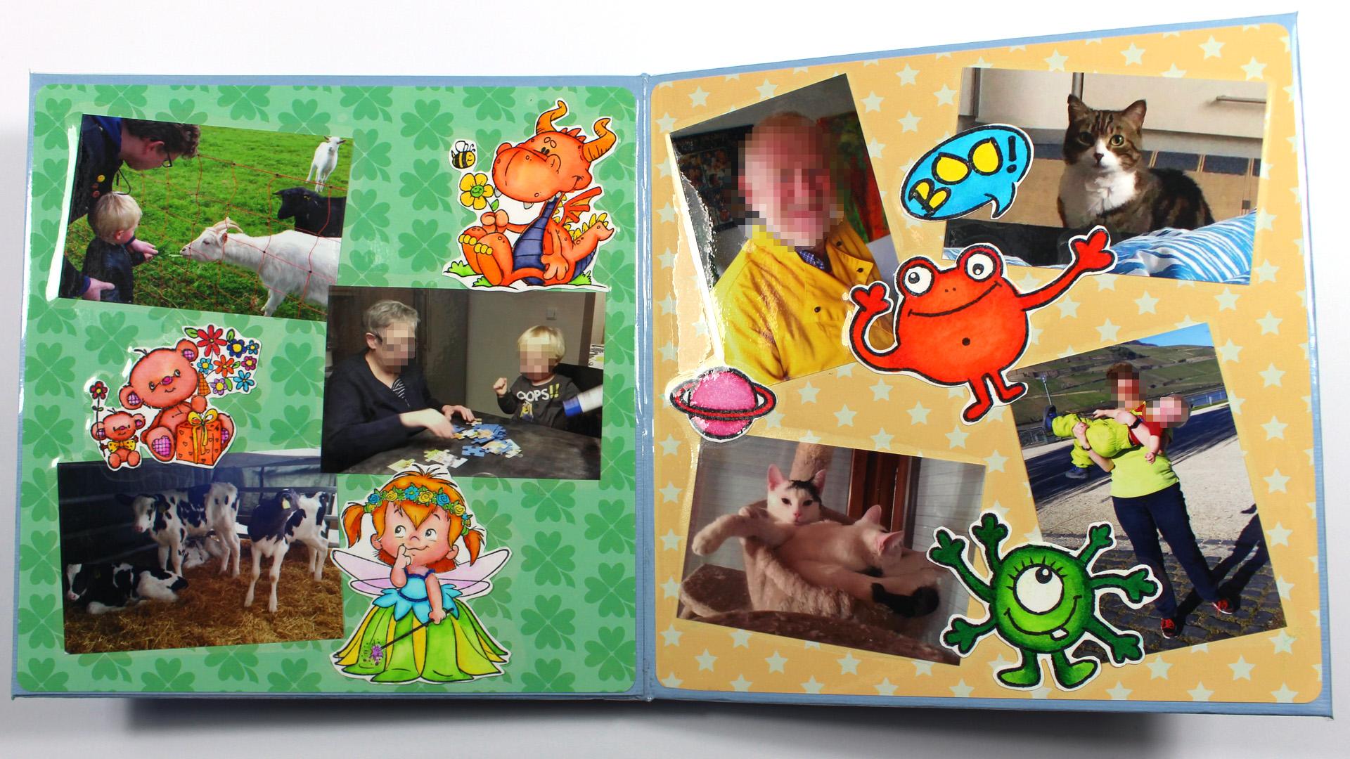 Verzauberkunst Collage Basteln Foto Von Bilderbuch