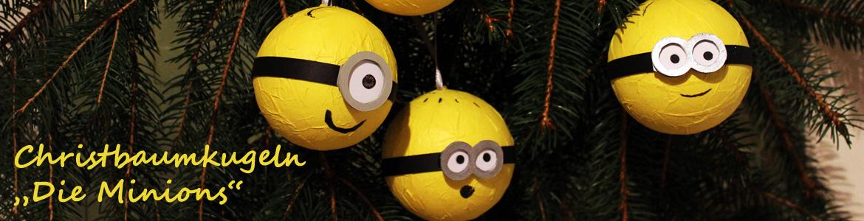 Christbaumkugeln Gelb.Weihnachtskugeln Die Minions Als Dekoration Für Den Gelben