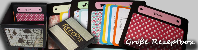 Große Rezeptbox mit Rezeptkartei aus Cardstock und Designpapier ...