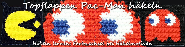 Farbwechseln Beim Häkeln Lernen Mit Pac Man Topflappen Kreativbunt