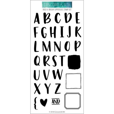 Concord & 9th Clear Stamps Bold & Brushy Uppercase