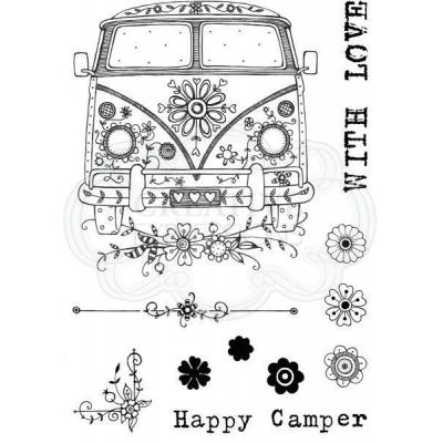 Creative Expressions Pink Ink Clear Stamps - Camper