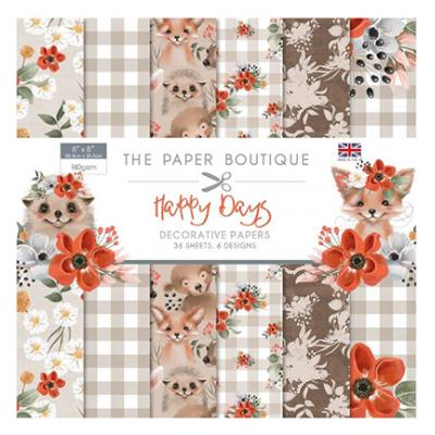 The Paper Boutique Happy Days Designpapier - Paper Pad