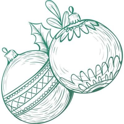 Couture Creations Clear Stamp - Christmas Baubles