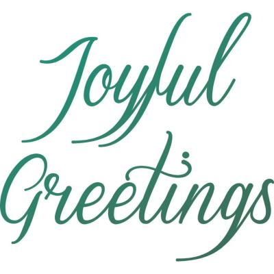 Couture Creations Clear Stamp - Joyful Greetings Sentiments