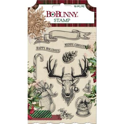 Bo Bunny  Christmas Treasures Clear Stamps