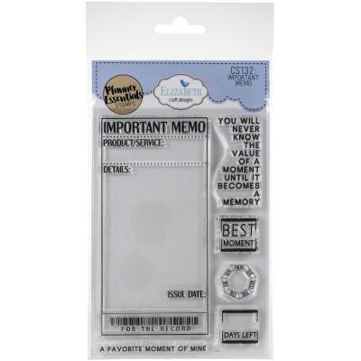 Elizabeth Craft Clear Stamps - Important Memo