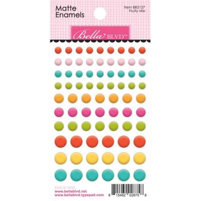Bella Blvd Squeeze The Day Enamel Dots - Fruity Mix