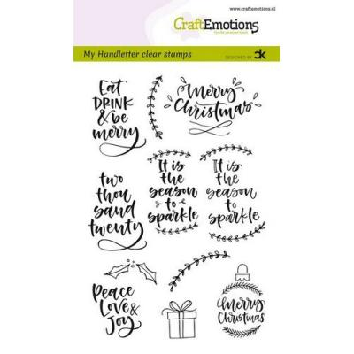 CraftEmotions Clear Stamps - Handletter Christmas 2