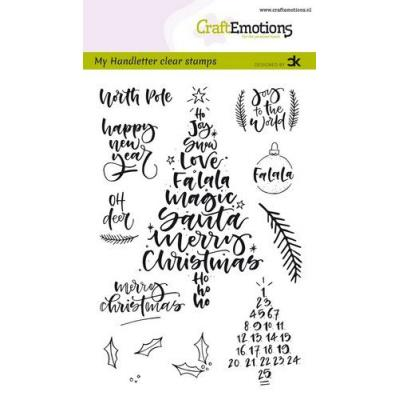 CraftEmotions Clear Stamps - Handletter Christmas 1