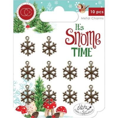 Craft Consortium  It's Snome Time Metal Charms - Snowflakes