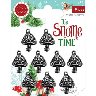Craft Consortium  It's Snome Time Metal Charms - Toad Stools