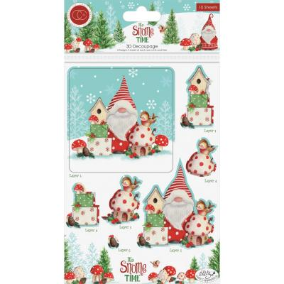 Craft Consortium  It's Snome Time - Decoupage & Topper Set