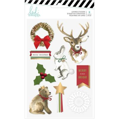Heidi Swapp Winter Wonderland - Layered Stickers