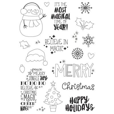 Simple Stories Say  Clear Stamps - Cheese Christmas