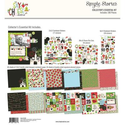 Simple Stories Say Cheese Christmas Designpapier - Collector's Essential Kit