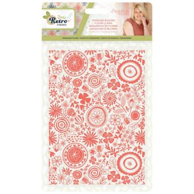 Crafter's Companion Sew Retro Embossingfolder - Doodled Blooms