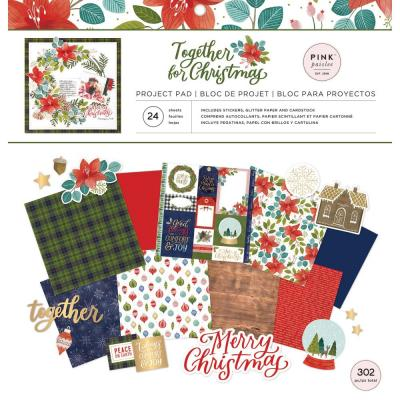 Pink Paislee Together For Christmas Designpapier - Collection Kit