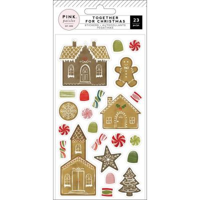 Pink Paislee Together For Christmas Weiche Sticker - Puffy Sticker
