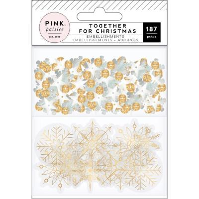 Pink Paislee Together For Christmas - Embellishments Acetate