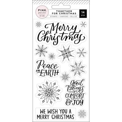Pink Paislee Together For Christmas Clear Stamps - Together For Christmas