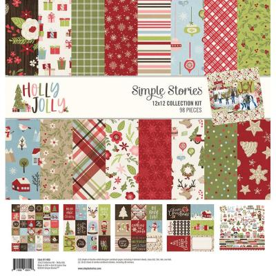Simple Stories Holly Jolly Designpapier - Collection Kit