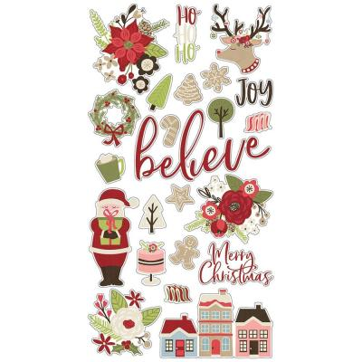 Simple Stories Holly Jolly - Chipboard Stickers