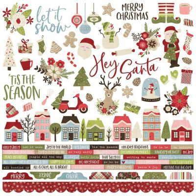 Simple Stories Holly Jolly - Cardstock Stickers