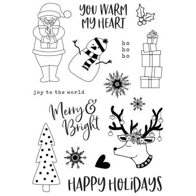 Simple Stories Holly Jolly Clear Stamps - Holly Jolly