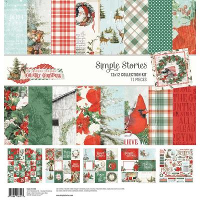 Simple Stories Country Christmas Designpapier - Collection Kit