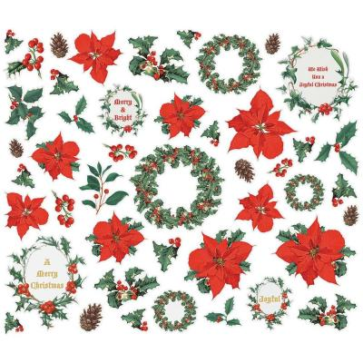 Simple Stories Country Christmas Die Cuts - Floral