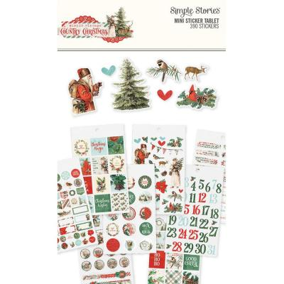 Simple Stories Country Christmas Sticker - Mini Sticker