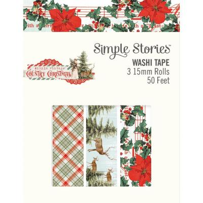 Simple Stories Country Christmas Klebebänder - Washi Tape