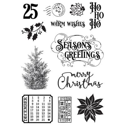 Simple Stories Country Christmas Clear Stamps - Country Christmas