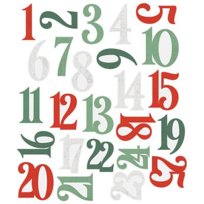 Simple Stories Country Christmas Die Cuts - Numbers