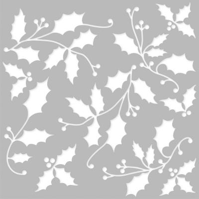 Simple Stories Country Christmas Stencil - Ilex