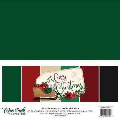 Echo Park A Cozy Christmas Cardstock - Solids Kit