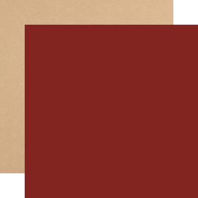 Echo Park My Favorite Christmas Cardstock - Dark Red Kraft