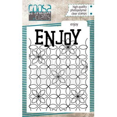 COOSA Crafts Clear Stamp - Enjoy