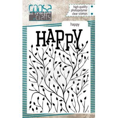 COOSA Crafts Clear Stamp - Happy