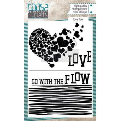 COOSA Crafts Clear Stamps - Love Flow