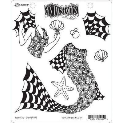 Ranger Dylusions Cling Stamps - Merlady