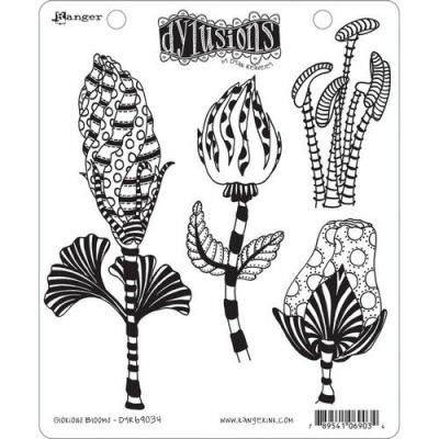 Ranger Dylusions Cling Stamps - Glorious Blooms
