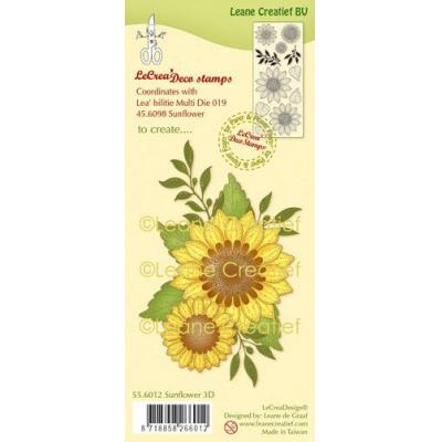Leane Creatief Clear Stamps - Sonnenblume