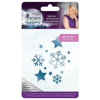 Crafter's Companion Enchanted Christmas Hotfoil Stamps - Night Sky