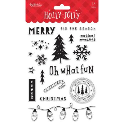 My Mind's Eye Holly Jolly - Clear Stamps