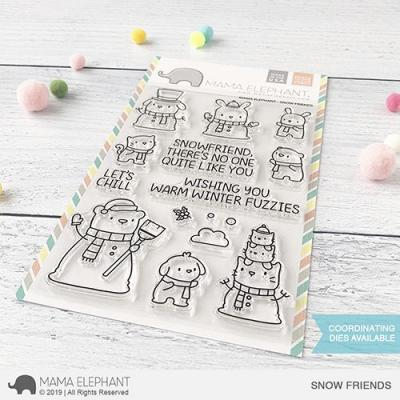 Mama Elephant Clear Stamps - Snow Friends
