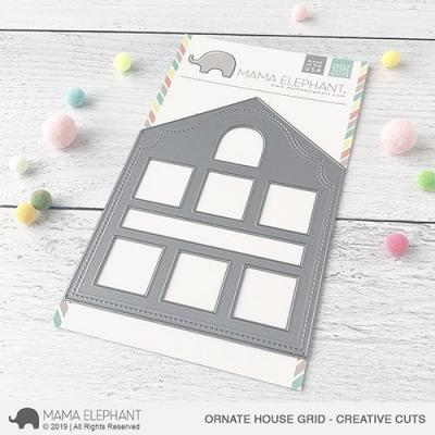 Mama Elephant Creative Cuts Ornate House Grid Kreativbunt