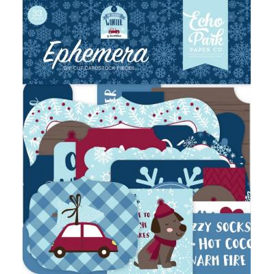 Echo Park My Favorite Winter Die Cuts - Ephemera